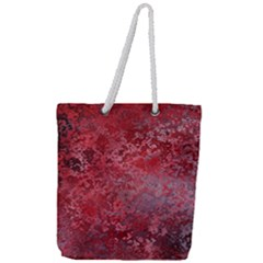 Background Texture Structure Full Print Rope Handle Tote (large)