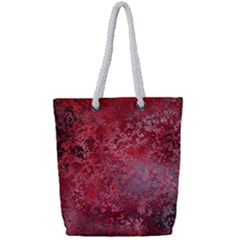 Background Texture Structure Full Print Rope Handle Tote (small)