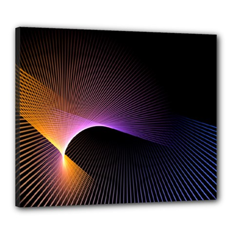 Star Graphic Rays Movement Pattern Canvas 24  X 20
