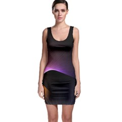 Star Graphic Rays Movement Pattern Bodycon Dress