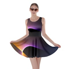 Star Graphic Rays Movement Pattern Skater Dress