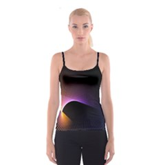 Star Graphic Rays Movement Pattern Spaghetti Strap Top