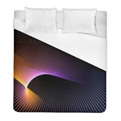Star Graphic Rays Movement Pattern Duvet Cover (full/ Double Size)