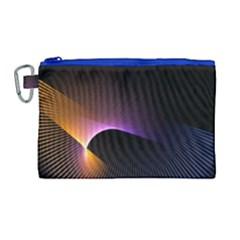 Star Graphic Rays Movement Pattern Canvas Cosmetic Bag (large)