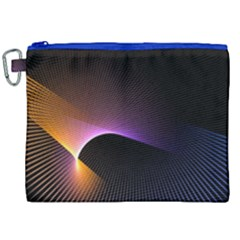 Star Graphic Rays Movement Pattern Canvas Cosmetic Bag (xxl)