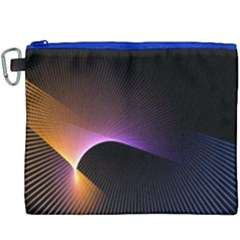 Star Graphic Rays Movement Pattern Canvas Cosmetic Bag (xxxl)