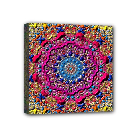 Background Fractals Surreal Design Mini Canvas 4  X 4