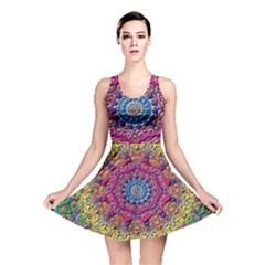 Background Fractals Surreal Design Reversible Skater Dress