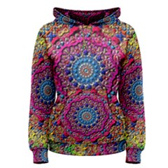 Background Fractals Surreal Design Women s Pullover Hoodie