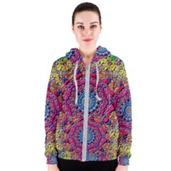 Background Fractals Surreal Design Women s Zipper Hoodie