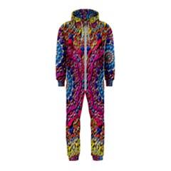 Background Fractals Surreal Design Hooded Jumpsuit (kids)