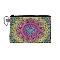 Background Fractals Surreal Design Canvas Cosmetic Bag (medium)