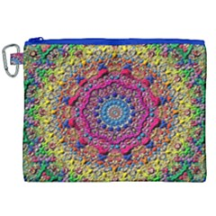 Background Fractals Surreal Design Canvas Cosmetic Bag (xxl)