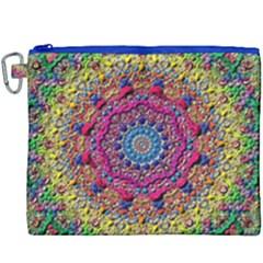 Background Fractals Surreal Design Canvas Cosmetic Bag (xxxl)