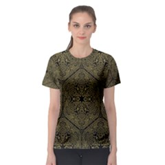 Texture Background Mandala Women s Sport Mesh Tee