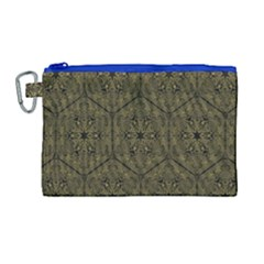 Texture Background Mandala Canvas Cosmetic Bag (large)