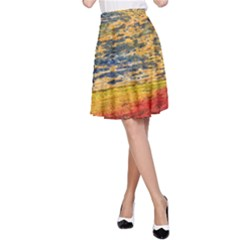 The Framework Drawing Color Texture A Line Skirt