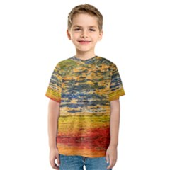 The Framework Drawing Color Texture Kids  Sport Mesh Tee