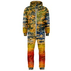 The Framework Drawing Color Texture Hooded Jumpsuit (men)