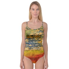 The Framework Drawing Color Texture Camisole Leotard