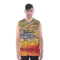 The Framework Drawing Color Texture Men s Basketball Tank Top