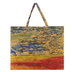 The Framework Drawing Color Texture Zipper Large Tote Bag