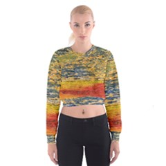 The Framework Drawing Color Texture Cropped Sweatshirt