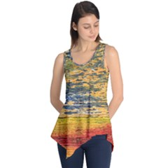 The Framework Drawing Color Texture Sleeveless Tunic