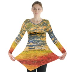 The Framework Drawing Color Texture Long Sleeve Tunic