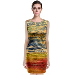 The Framework Drawing Color Texture Classic Sleeveless Midi Dress