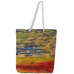 The Framework Drawing Color Texture Full Print Rope Handle Tote (large)