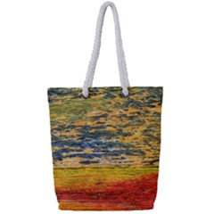 The Framework Drawing Color Texture Full Print Rope Handle Tote (small)
