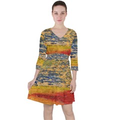 The Framework Drawing Color Texture Ruffle Dress