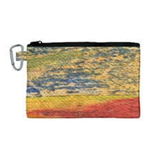 The Framework Drawing Color Texture Canvas Cosmetic Bag (medium)