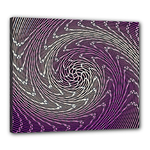 Graphic Abstract Lines Wave Art Canvas 24  X 20