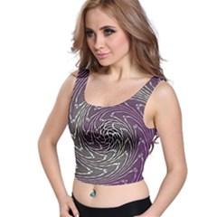 Graphic Abstract Lines Wave Art Crop Top