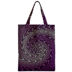 Graphic Abstract Lines Wave Art Zipper Classic Tote Bag