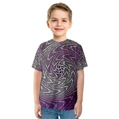 Graphic Abstract Lines Wave Art Kids  Sport Mesh Tee