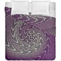 Graphic Abstract Lines Wave Art Duvet Cover Double Side (California King Size) View1