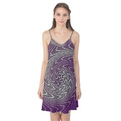 Graphic Abstract Lines Wave Art Camis Nightgown
