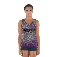 Graphic Abstract Lines Wave Art Sport Tank Top