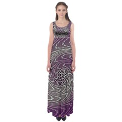 Graphic Abstract Lines Wave Art Empire Waist Maxi Dress
