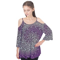 Graphic Abstract Lines Wave Art Flutter Tees