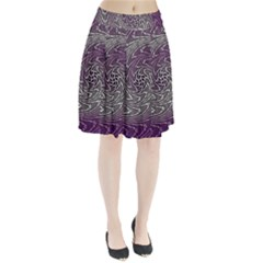 Graphic Abstract Lines Wave Art Pleated Skirt