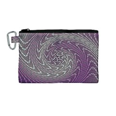 Graphic Abstract Lines Wave Art Canvas Cosmetic Bag (medium)