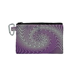 Graphic Abstract Lines Wave Art Canvas Cosmetic Bag (small)