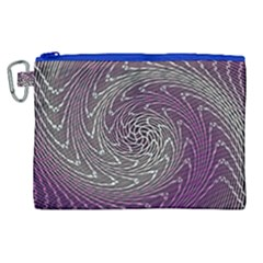 Graphic Abstract Lines Wave Art Canvas Cosmetic Bag (xl)