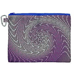 Graphic Abstract Lines Wave Art Canvas Cosmetic Bag (xxl)
