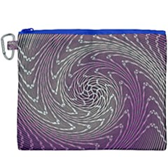 Graphic Abstract Lines Wave Art Canvas Cosmetic Bag (xxxl)