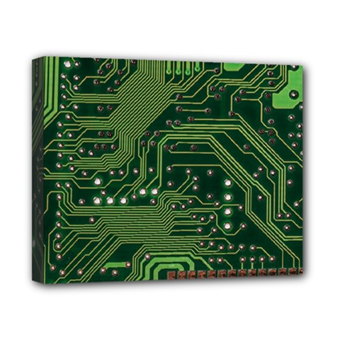Board Computer Chip Data Processing Canvas 10  X 8